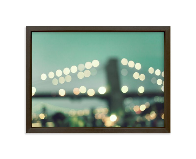 """""""NYC Dusk"""" - Limited Edition Art Print by Caroline Mint in beautiful frame options and a variety of sizes."""