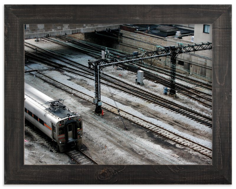 """Down by the Train Yard"" - Limited Edition Art Print by AJD in beautiful frame options and a variety of sizes."