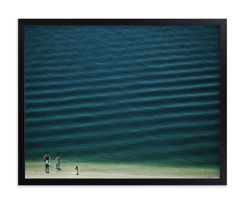"""""""Four People On The Beach"""" - Limited Edition Art Print by Andy Mars in beautiful frame options and a variety of sizes."""
