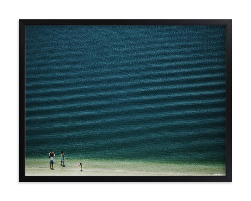 """Four People On The Beach"" - Limited Edition Art Print by Andy Mars in beautiful frame options and a variety of sizes."