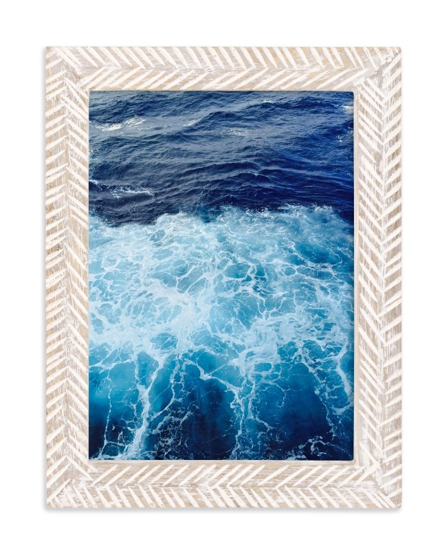 """""""Wavy Blue"""" - Art Print by CaroleeXpressions in beautiful frame options and a variety of sizes."""