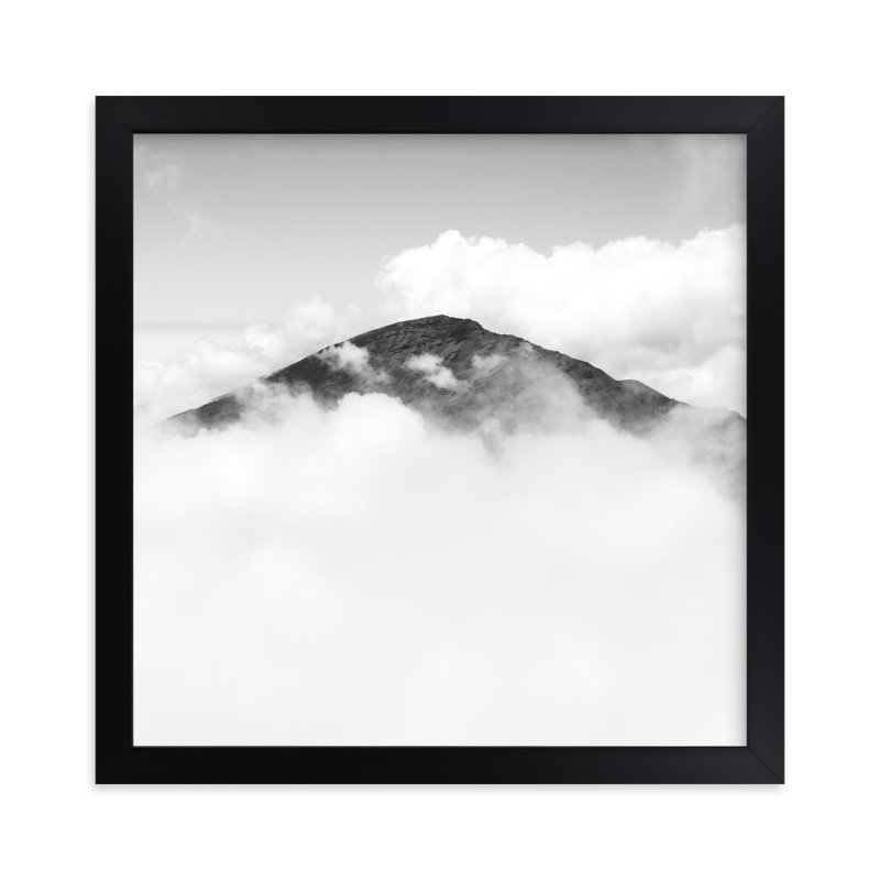 """Volcano Hidden in the Clouds 3"" - Limited Edition Art Print by Mary Ann Glynn-Tusa in beautiful frame options and a variety of sizes."