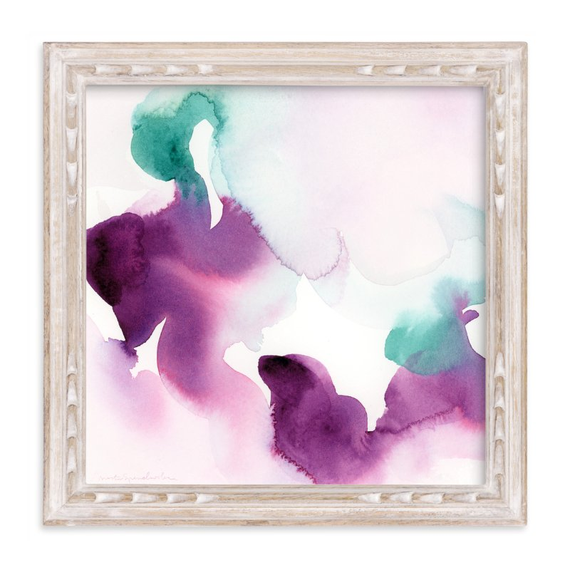 """Watercolor Abstract Flora Series : Solice"" - Limited Edition Art Print by Marta Spendowska in beautiful frame options and a variety of sizes."