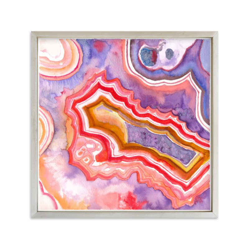 """""""Abstract Agate"""" - Limited Edition Art Print by Laura Rodil in beautiful frame options and a variety of sizes."""