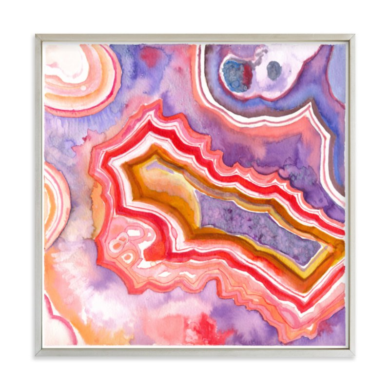 """Abstract Agate"" - Limited Edition Art Print by Laura Rodil in beautiful frame options and a variety of sizes."