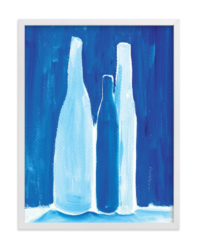 """3 bottles"" - Limited Edition Art Print by Robin Ott in beautiful frame options and a variety of sizes."