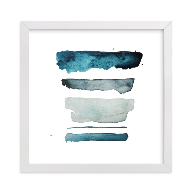 """of land and sea - deep"" - Limited Edition Art Print by Kiana Mosley in beautiful frame options and a variety of sizes."