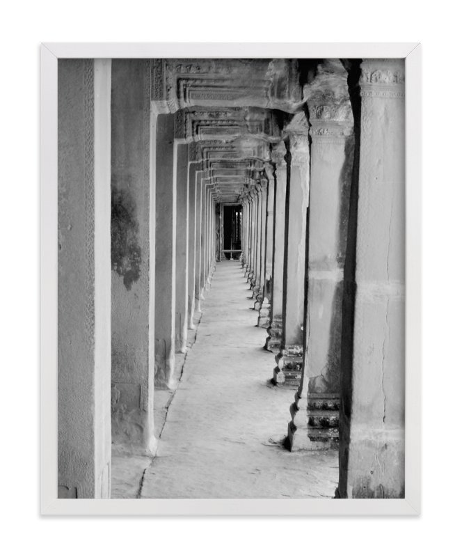 """""""Angkor Hallway"""" - Limited Edition Art Print by Katharine Watson in beautiful frame options and a variety of sizes."""