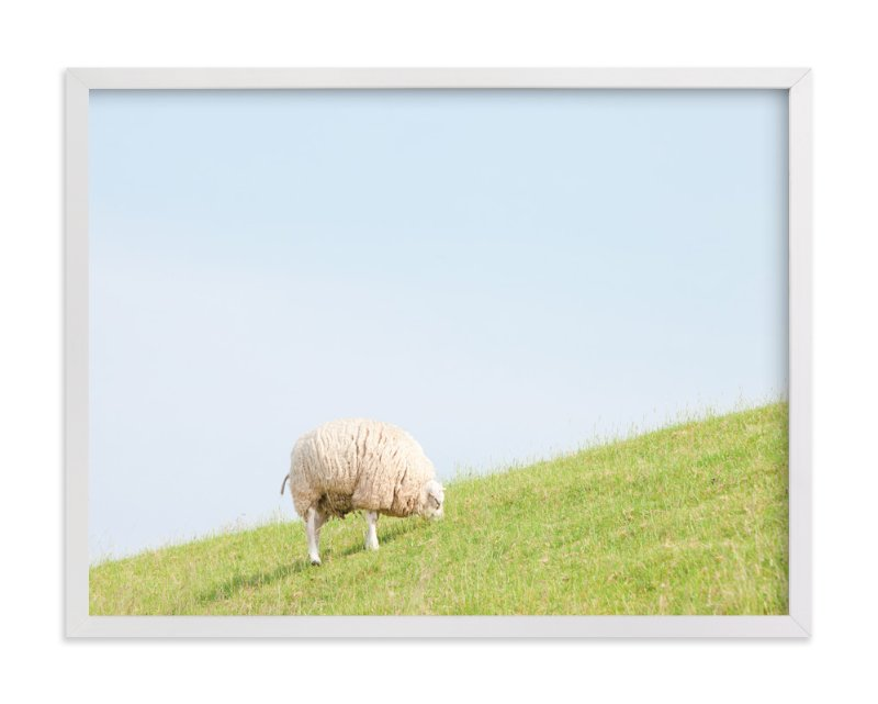 """Sheep at Lunch"" - Limited Edition Art Print by Alexandra Feo in beautiful frame options and a variety of sizes."