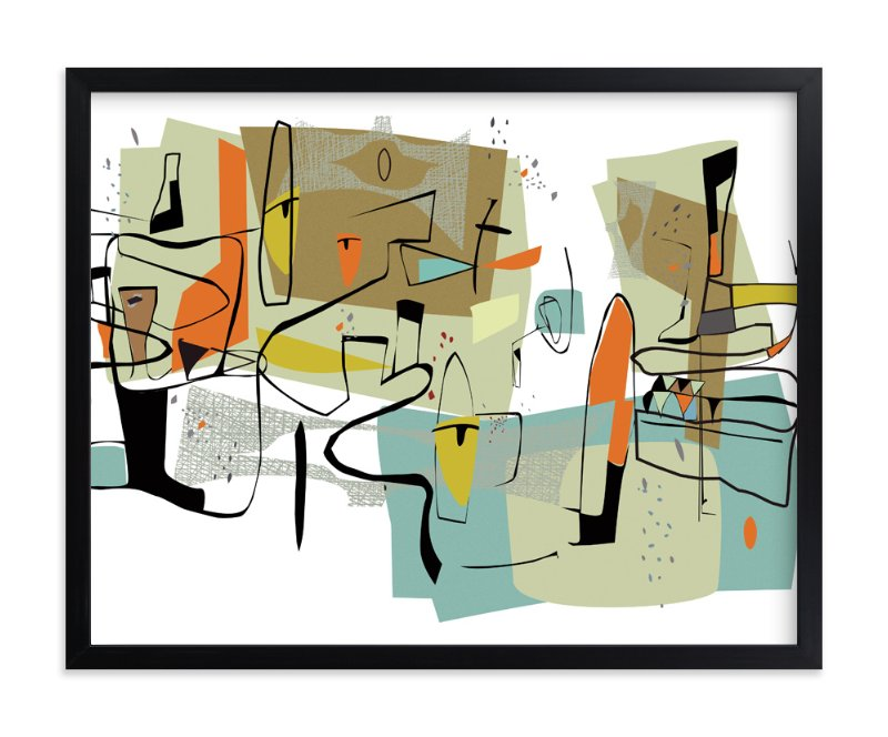 """""""fairview 1954"""" - Limited Edition Art Print by edwin wade in beautiful frame options and a variety of sizes."""