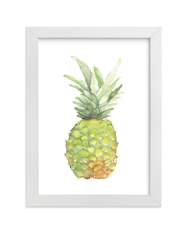 """""""Watercolor Piña"""" - Limited Edition Art Print by Lily Hanna in beautiful frame options and a variety of sizes."""