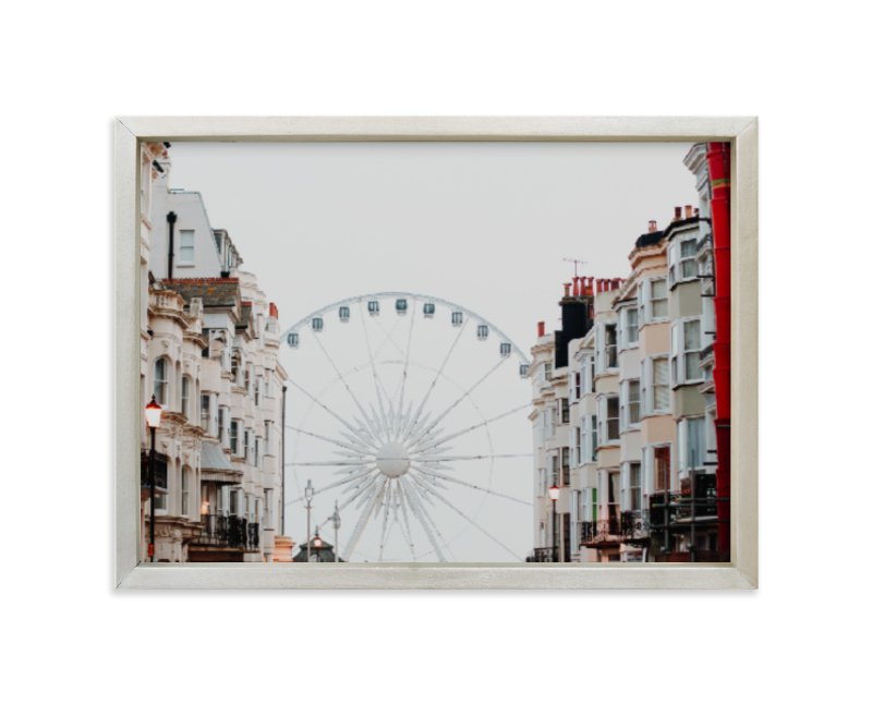 """""""Down the Street"""" - Limited Edition Art Print by Annie Montgomery in beautiful frame options and a variety of sizes."""