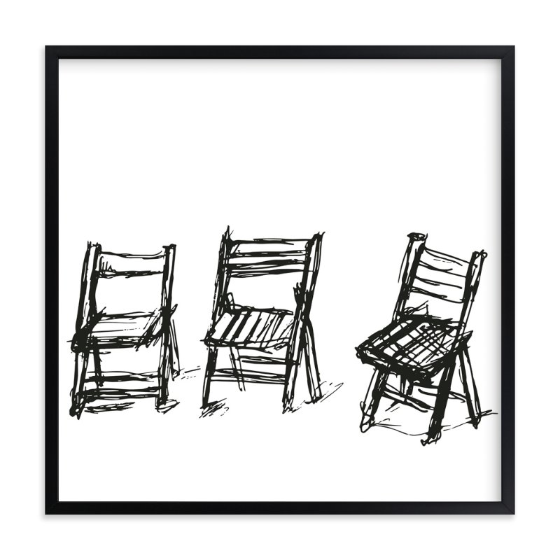 """""""Three Chairs"""" - Limited Edition Art Print by Michael Hovitch in beautiful frame options and a variety of sizes."""