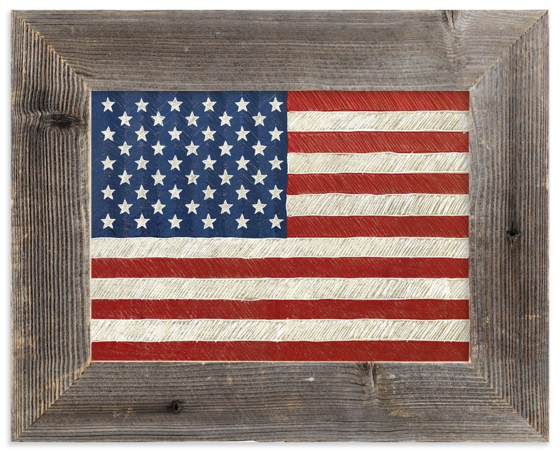 """Rustic American Flag"" - Limited Edition Art Print by Amy Marsh in beautiful frame options and a variety of sizes."