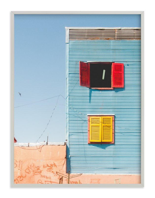 """La Boca shapes, Buenos Aires"" - Limited Edition Art Print by Jacquelyn Sloane Siklos in beautiful frame options and a variety of sizes."