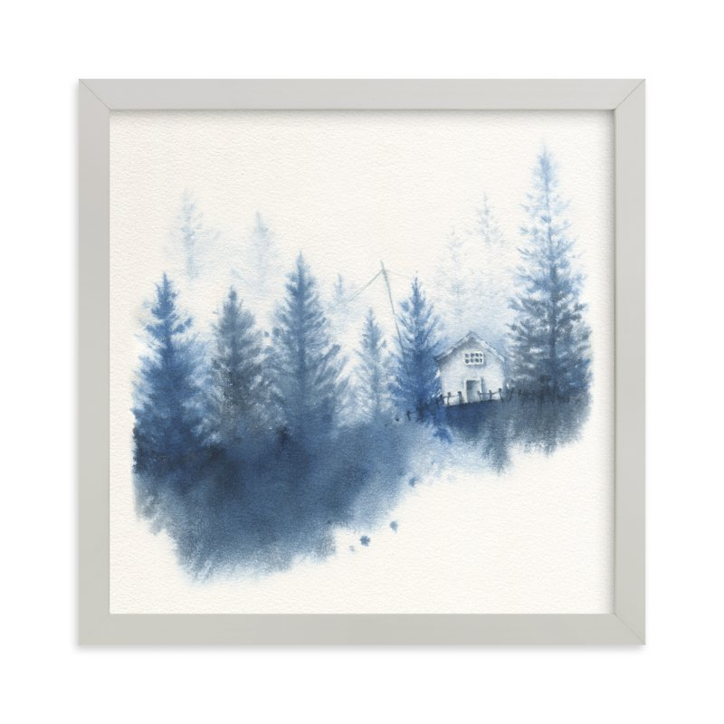 """House in the Woods"" - Limited Edition Art Print by Ekaterina Romanova in beautiful frame options and a variety of sizes."