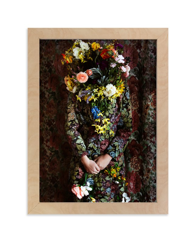 """Shes Blooming"" - Limited Edition Art Print by Theresa Bear in beautiful frame options and a variety of sizes."