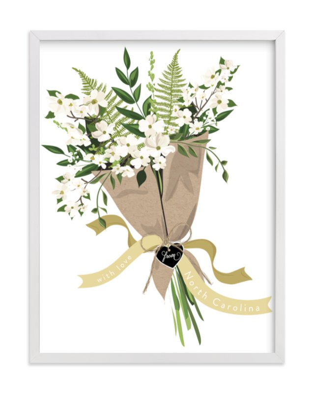 """North Carolina Dogwood Bouquet"" - Limited Edition Art Print by Susan Moyal in beautiful frame options and a variety of sizes."