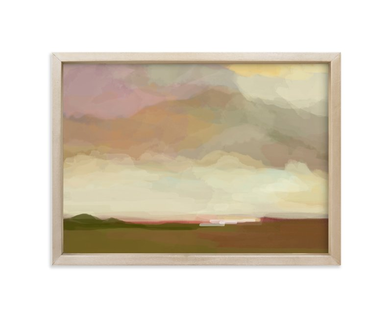 """""""pink meadows"""" - Limited Edition Art Print by Alison Jerry Designs in beautiful frame options and a variety of sizes."""