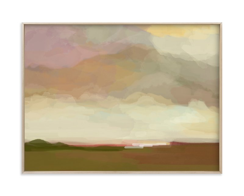 """pink meadows"" - Limited Edition Art Print by Alison Jerry Designs in beautiful frame options and a variety of sizes."
