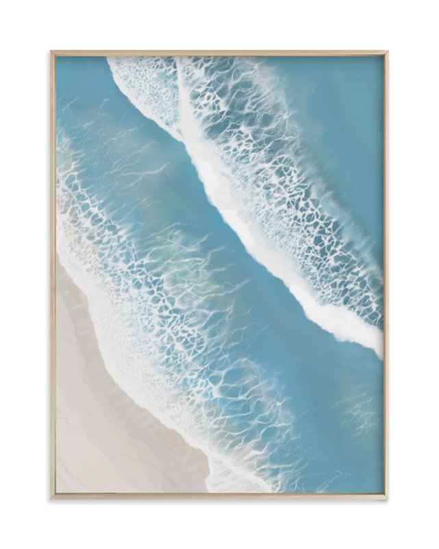 """Foam From Above"" - Limited Edition Art Print by Melanie Shaul in beautiful frame options and a variety of sizes."