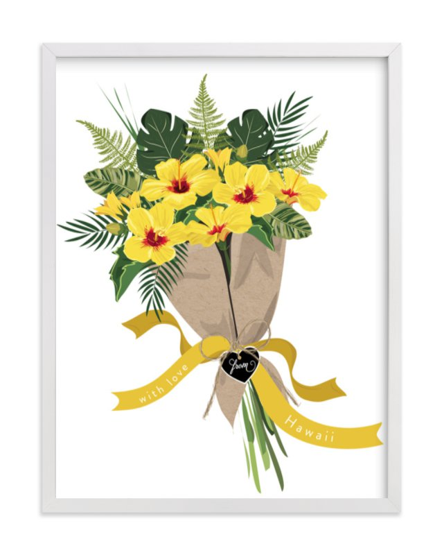 """""""Hawaii Hibiscus Bouquet"""" - Limited Edition Art Print by Susan Moyal in beautiful frame options and a variety of sizes."""