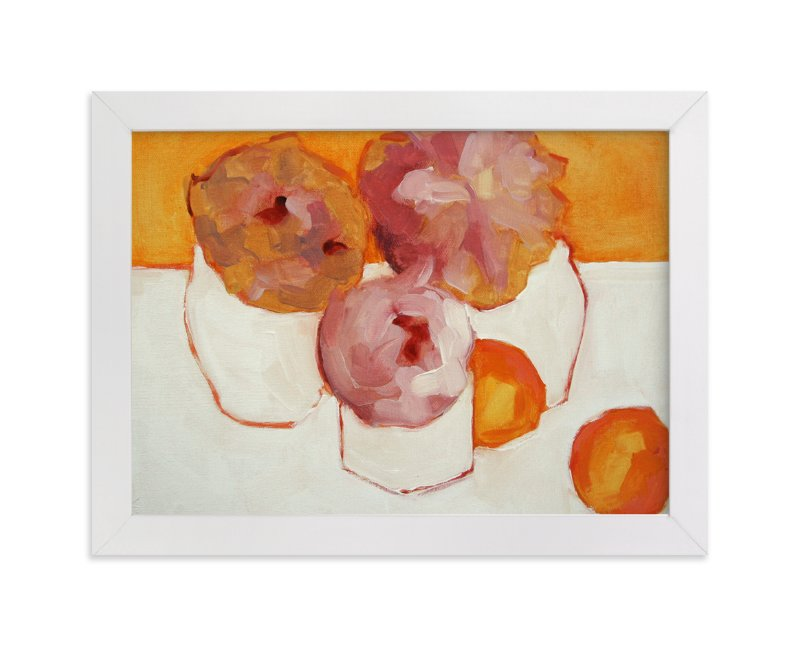 """""""Peonies and Kumquats"""" - Limited Edition Art Print by Lynne Millar in beautiful frame options and a variety of sizes."""