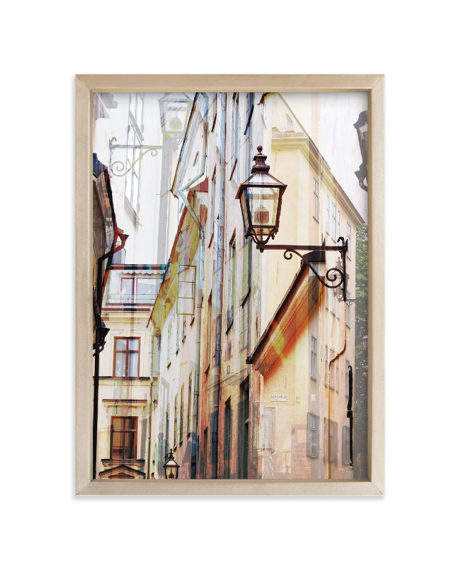 """Narrow streets of open Gamla Stan"" - Limited Edition Art Print by Bethania Lima in beautiful frame options and a variety of sizes."