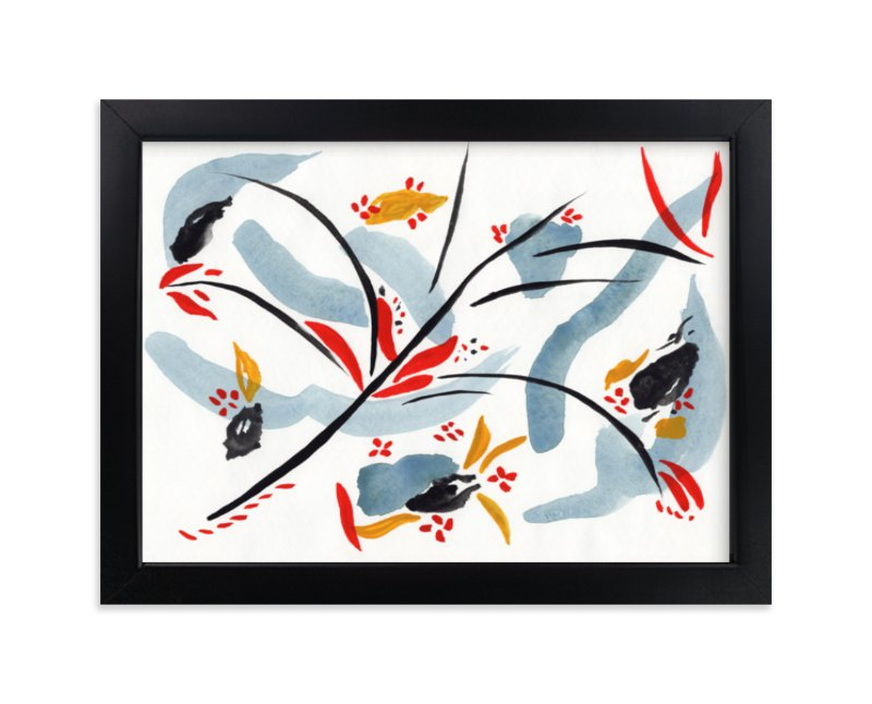 """""""Bloom on rain"""" - Limited Edition Art Print by FERNANDA MARTINEZ in beautiful frame options and a variety of sizes."""