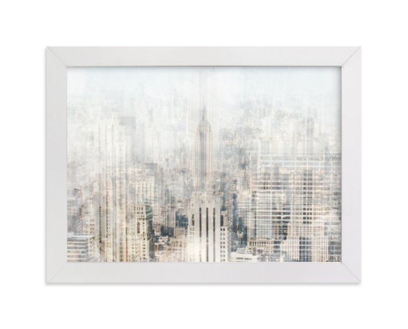 """""""Big Apple Blur"""" - Art Print by Emily Coey in beautiful frame options and a variety of sizes."""