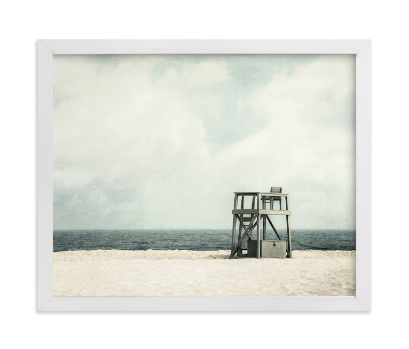 """Gray Guard Chair"" - Limited Edition Art Print by Pamela Viola in beautiful frame options and a variety of sizes."