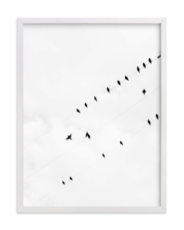 """""""Birds on a Wire"""" - Limited Edition Art Print by Angela Thompson in beautiful frame options and a variety of sizes."""