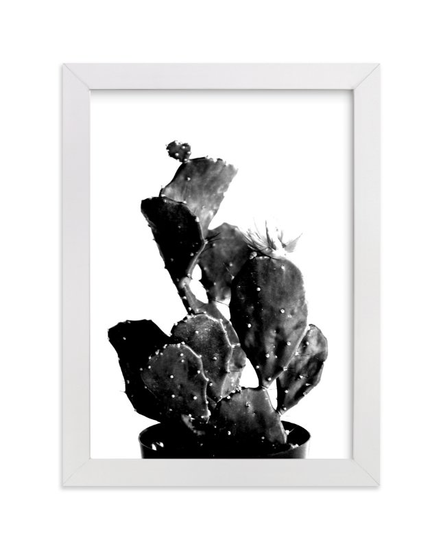 """black cactus"" - Limited Edition Art Print by Baumbirdy in beautiful frame options and a variety of sizes."