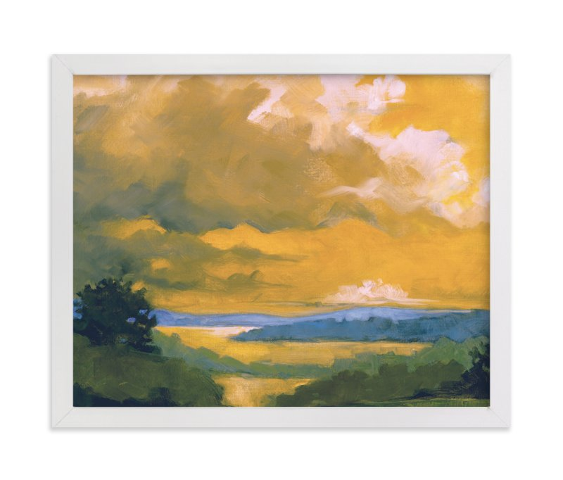 """Orange Lake"" - Limited Edition Art Print by Stephanie Goos Johnson in beautiful frame options and a variety of sizes."