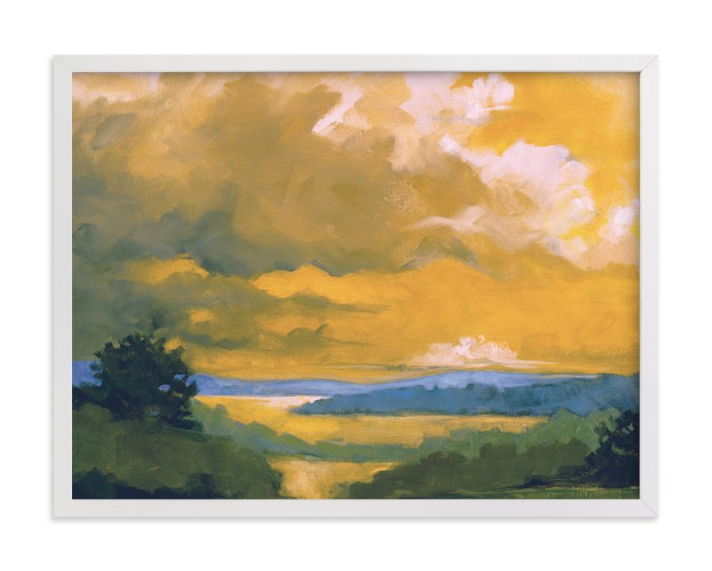 """""""Orange Lake"""" - Limited Edition Art Print by Stephanie Goos Johnson in beautiful frame options and a variety of sizes."""