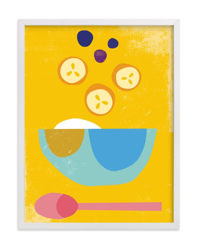 """""""Breakfast Bowl"""" - Limited Edition Art Print by sue prue in beautiful frame options and a variety of sizes."""
