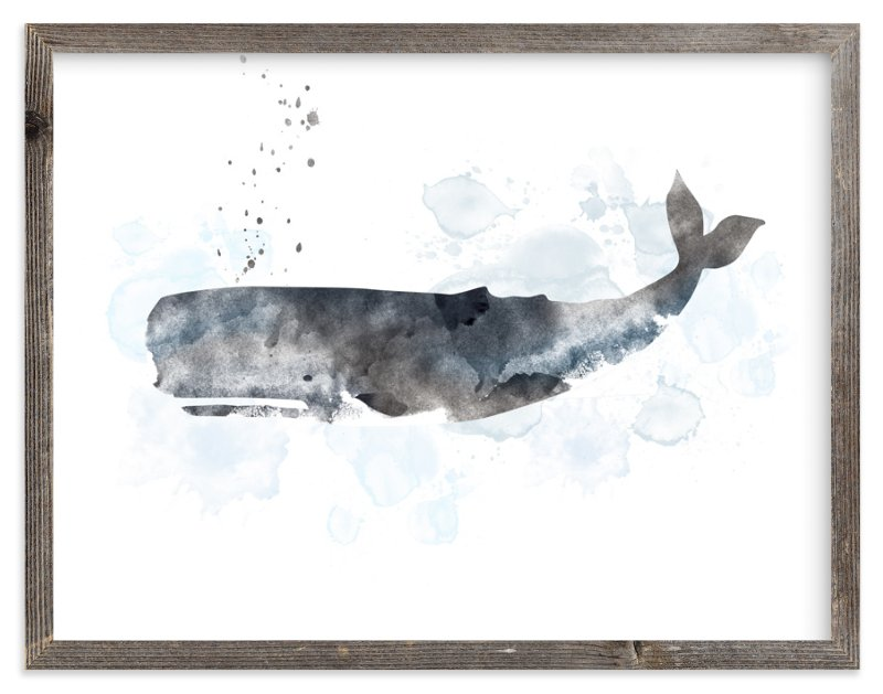 """""""Whale Series One"""" - Art Print by Shirley Lin Schneider in beautiful frame options and a variety of sizes."""