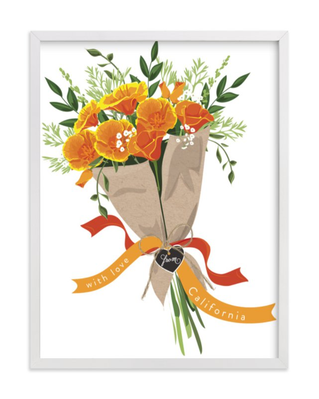 """""""California Poppy Bouquet"""" - Limited Edition Art Print by Susan Moyal in beautiful frame options and a variety of sizes."""
