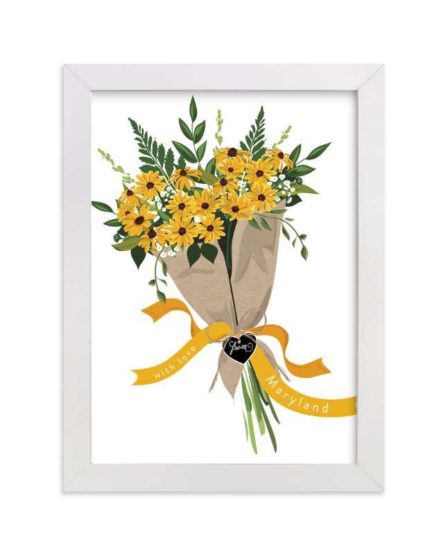 """""""Maryland Blackeyed Susan Bouquet"""" - Limited Edition Art Print by Susan Moyal in beautiful frame options and a variety of sizes."""