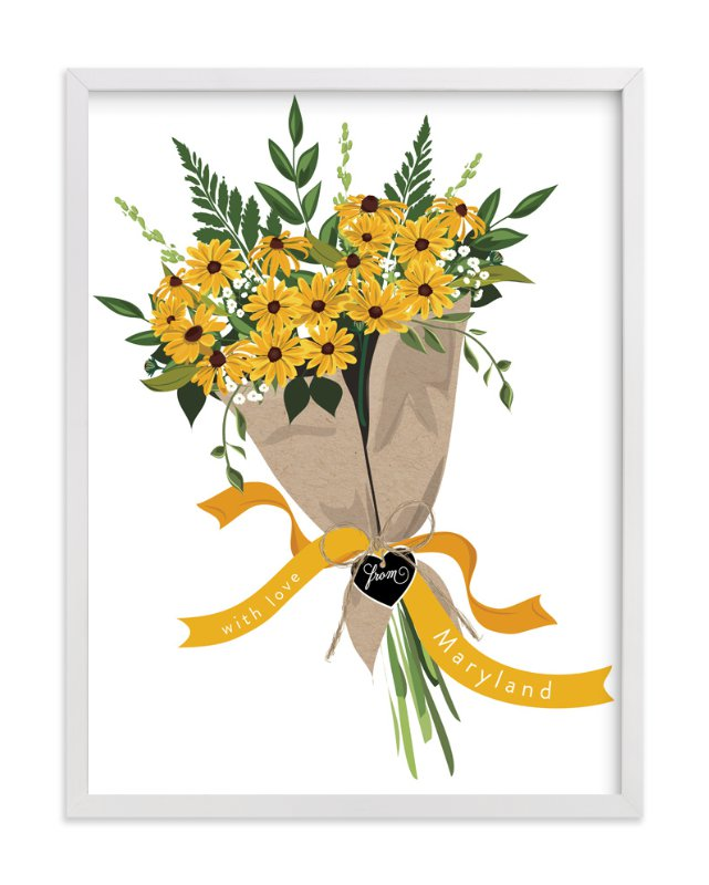 """Maryland Blackeyed Susan Bouquet"" - Limited Edition Art Print by Susan Moyal in beautiful frame options and a variety of sizes."