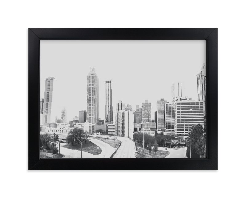 """The City in Black and White"" - Limited Edition Art Print by Melinda Denison in beautiful frame options and a variety of sizes."