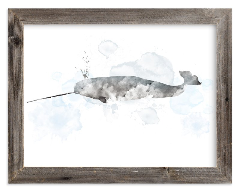 """Whale Series Two"" - Limited Edition Art Print by Shirley Lin Schneider in beautiful frame options and a variety of sizes."
