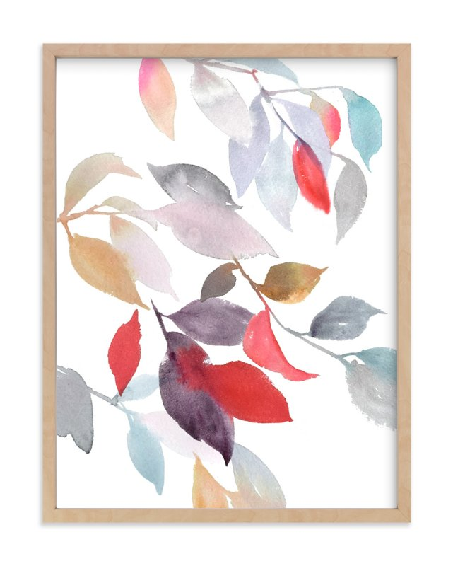 """""""Foliage"""" - Limited Edition Art Print by Julie Song Ink in beautiful frame options and a variety of sizes."""