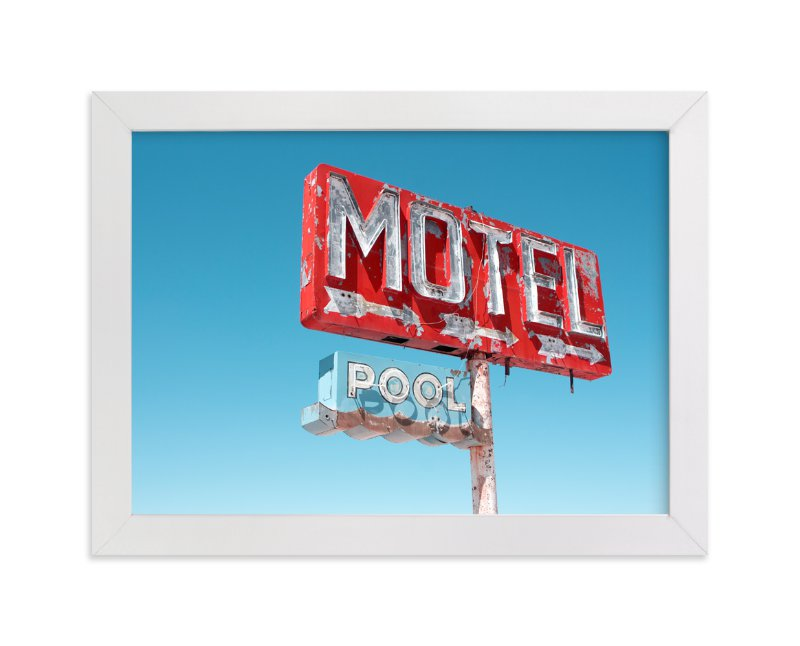 """""""Hotels & Motels"""" - Limited Edition Art Print by Calais A Le Coq in beautiful frame options and a variety of sizes."""