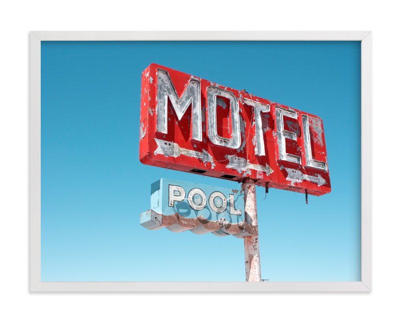 """Hotels & Motels"" - Limited Edition Art Print by Calais Le Coq in beautiful frame options and a variety of sizes."