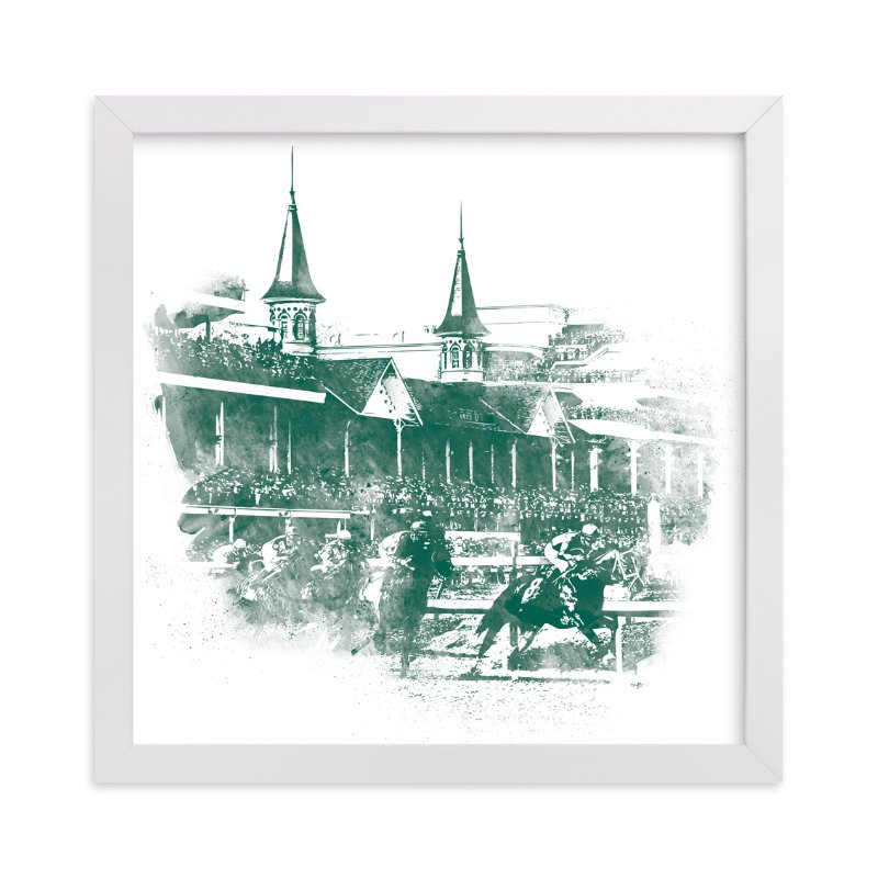 """""""Churchill Downs"""" - Limited Edition Art Print by Paul Berthelot in beautiful frame options and a variety of sizes."""