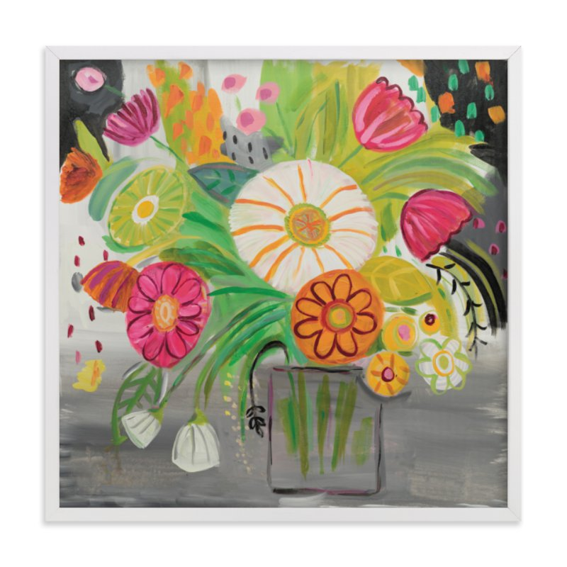 """Matisse Florals"" - Limited Edition Art Print by FARIDA ZAMAN in beautiful frame options and a variety of sizes."