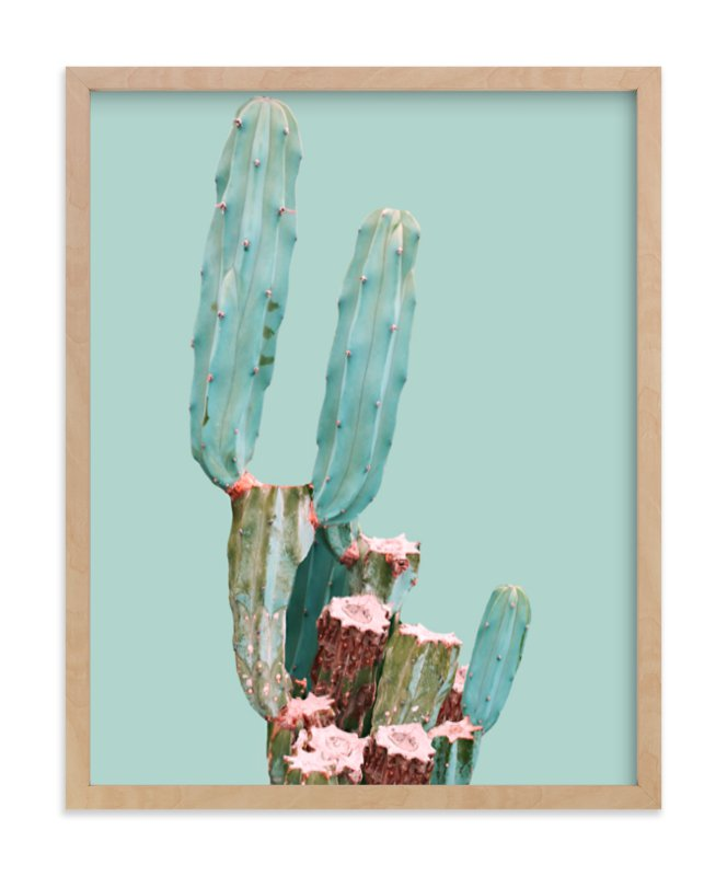 """""""Cactus Garden"""" - Limited Edition Art Print by Baumbirdy in beautiful frame options and a variety of sizes."""