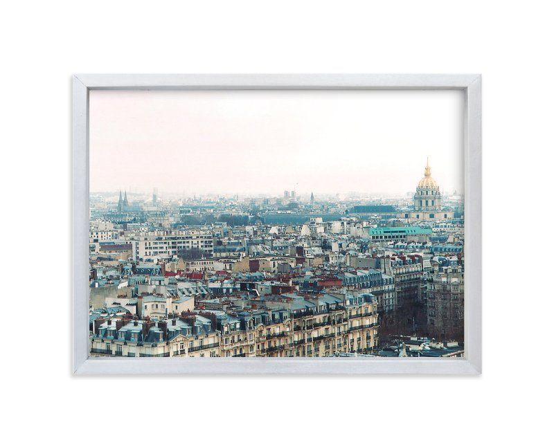 """""""Along the Seine"""" - Limited Edition Art Print by Alison Jerry Designs in beautiful frame options and a variety of sizes."""