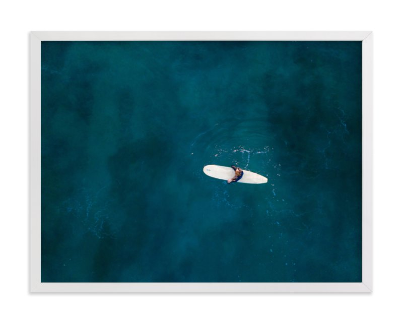 """""""Waiting on Waves"""" - Limited Edition Art Print by Jessica Rice in beautiful frame options and a variety of sizes."""